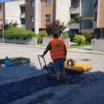 riparazione asfalto riciclato
