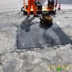 riparazione con asfalto riciclato