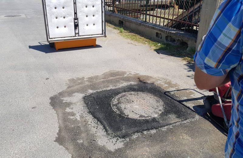 riparazione buche stradali